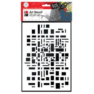 Marabu Art Stencil - Graphic Pattern, 1/Pkg