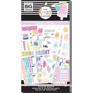 Create 365 Happy Planner - Watercolor Goals Sticker Value Pa