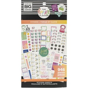 Create 365 Happy Planner - Fitness Workout Sticker Value Pac