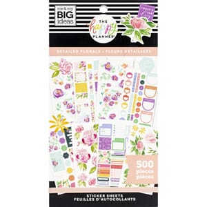Create 365 Happy Planner - Detailed Flowers Sticker Value