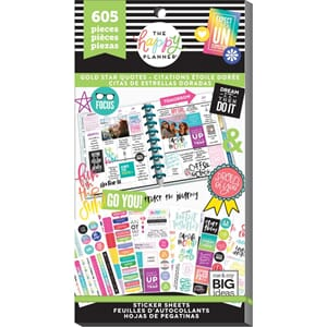 Create 365 Happy Planner - Gold Star Quotes Sticker Value Pa