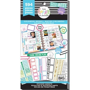 Create 365 Happy Planner - Colorful Boxes Sticker Value Pack