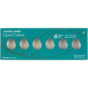 Kuretake Gansai Tambi 6 Color Set, Pearl Colors
