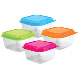 Bead Storage: Containers W/Lids 2.5x1.5inch, 4/Pkg