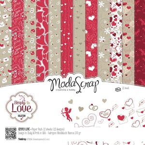 Elizabeth Craft: Simply Love Paper Pack, 12x12, 12/Pkg