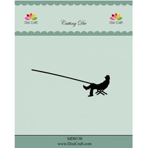 Dixi Craft:Sitting Fisherman Dies, 1/Pkg