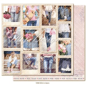 Maja Design: Snapshots Girls in Jeans- Denim & Girls