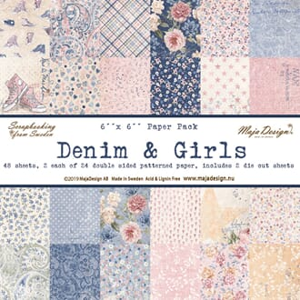 Maja Design: Denim & Girls Paper Pack, 48/Pkg