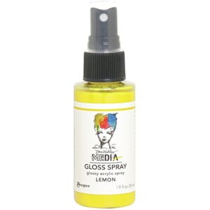 Dina Wakley: Lemon - Media Gloss Sprays, 2oz