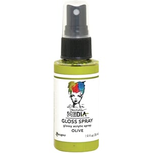Dina Wakley: Olive - Media Gloss Sprays, 2oz