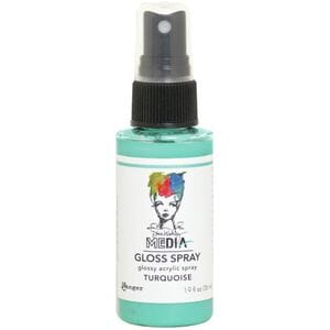 Dina Wakley: Turquiose - Media Gloss Sprays, 2oz