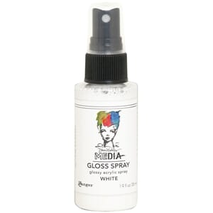 Dina Wakley: White - Media Gloss Sprays, 2oz