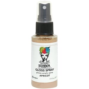Dina Wakley: Apricot - Media Gloss Sprays, 2oz