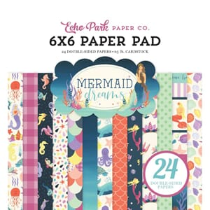 Echo Park: Mermaid Dreams Cardstock Pad, 6x6, 24/Pk