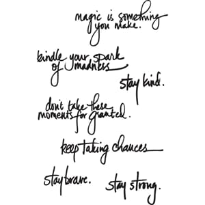 Dina Wakley: Handwritten Quotes - Media Cling Stamps