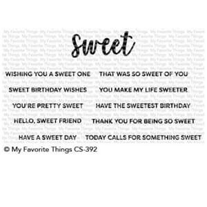 MFT: Sweet Sentiments Clear stamps, 4x4 inch