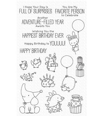 MFT: Birthday Buds Clear Stamps, 5x8 inch