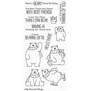 MFT: BB Polar Bear Pals Clear Stamps,
