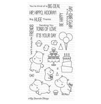 MFT: BB Happy Hippos Clear Stamps, 4x8 inch