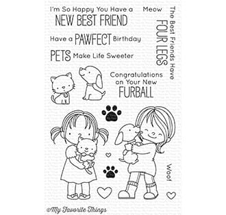 MFT: New Best Friend Clear Stamps, 4x6 inch