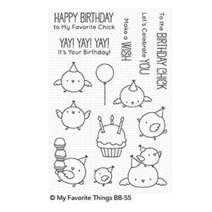 MFT: Birthday Chicks Clear Stamps, 4x6 inch