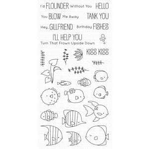 MFT: Gill Friends Clear Stamps, 4x8 inch
