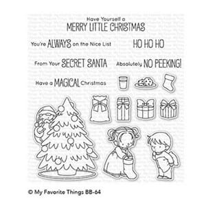 MFT: Secret Santa Clear Stamps, 4x8 inch