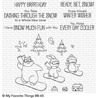 MFT: BB Ready, Set, Snow Clear Stamps, 4x8 inch