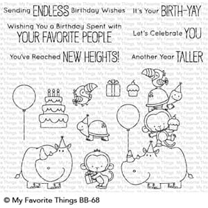 MFT: Birth-Yay Clear Stamps, 4x8 inch