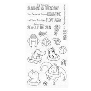 MFT: Sunshine & Friendship Clear Stamps, 4x8 inch