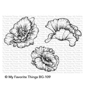 MFT: Poppy Blooms Cling Stamps, 4x6 inch