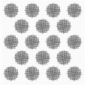 MFT: Crosshatch Polka Dot Background Cling Stamps, 6x6 inch