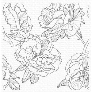 MFT: Fanciful Roses Background Cling Stamps, 1/Pkg