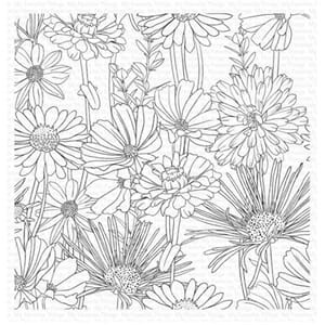 MFT: Flower Field Background Cling Stamps, 1/Pkg