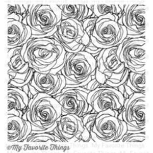 MFT: Roses All Over Background Stamp, 6x6 inch