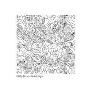 MFT: BG Floral Fantasy Background Cling Stamp, 5.8x5.8 inch