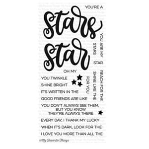 MFT: Written in the Stars Clear Stamps, 4x8 inch