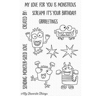 MFT: Monster Sized Clear Stamps,
