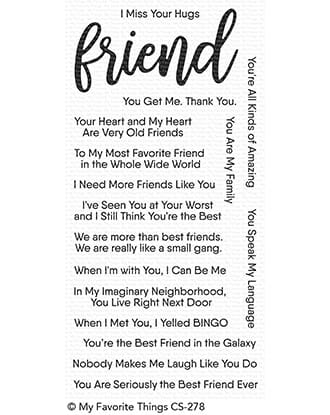 MFT: Anything-but-Basic Friendship Clear Stamps, 4x8 inch