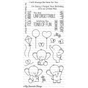 MFT: Adorable Elephants Clear Stamps, 4x8 inch