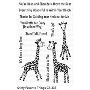 MFT: Playful Giraffes Clear Stamps, 4x6 inch
