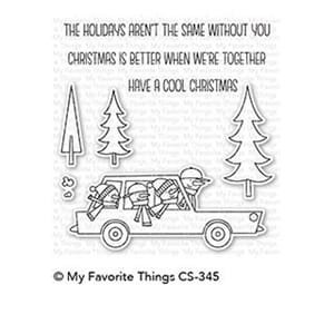 MFT: Cool Christmas Clear Stamps, 4x4 inch