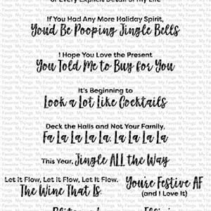MFT: Sassy Pants Holiday Clear Stamps