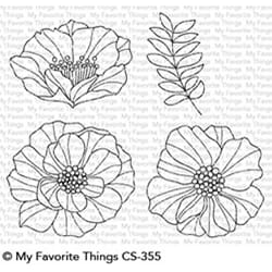 MFT: Brilliant Blooms Clear Stamps, 4x6 inch