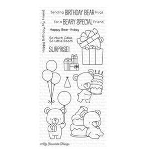 MFT: Beary Special Birthday Clear Stamps,