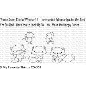 MFT: Fox & Friend Clear Stamps, 4x4 inch