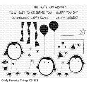 MFT: Party Penguins Clear Stamps, 4x8 inch
