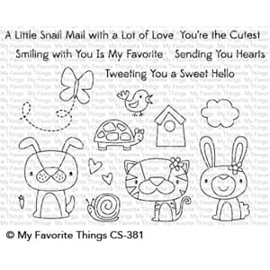 MFT:Cute Critters Clear Stamps, 4x6 inch
