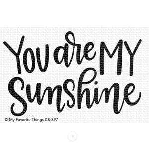 MFT: You Are My Sunshine Clear Stamps, 3x4 inch
