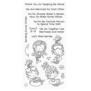 MFT: Mermaid for Each Other Clear Stamps, 4x8 inch